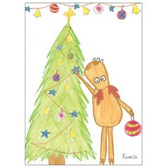 Deer Tree Card