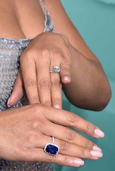 Tiffany OFF! See How Priyanka Chopra Stacked Her Wedding Band and Engagement Ring Diamond Gemstone, Diamond Rings, Gemstone Rings, Tiffany And Co, Tiffany Blue, Wedding Rings For Women, Wedding Bands, Priyanka Chopra Wedding, Celebrity Engagement Rings
