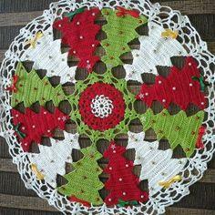 Carpeta navideña crochet patron