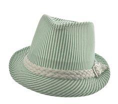 Chapéu Fedora estilo Panamá listrado de verde e branco. Chá de Mulher   chapeuverde   5fa4afbf019