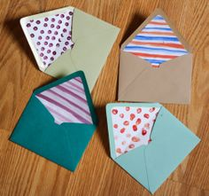 DIY Envelope liners. Great for pen pals or regular letter writing!