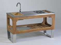 Cucina da esterno in acciaio e legno WINDOW Collezione LG by Lgtek Outdoor | design Michele Villa
