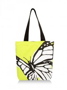 BE FOR BAG Butterfly Print Tote Bag  by KOOVS