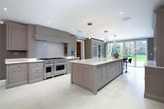 6 bedroom detached house for sale in Prince Consort Drive, Ascot, Berkshire - Rightmove. Home Decor Kitchen, Kitchen Family Rooms, Kitchen Remodel, Open Plan Kitchen Living Room, Home Kitchens, Kitchen Styling, Open Plan Kitchen Diner, Modern Kitchen Design, Kitchen Design