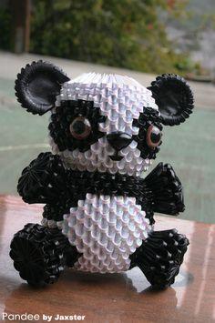 3d origami panda
