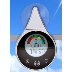 Window Thermometer & Hygrometer Solar, Outdoor Décor