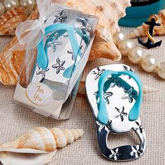 Beach Party Favors Flip Flop Bottle Opener Beach favors for weddings, showers and ocean or water themed events. This handy and fun flip flop bottle opener party favor makes the most of a summer sensation Beach Party Favors, Nautical Wedding Favors, Wedding Party Favors, Wedding Ideas, Wedding Inspiration, Wedding Souvenir, Bridal Shower Favors, Wedding Themes, Wedding Gifts