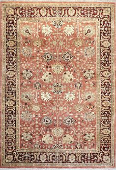 Traditional area rug with Ziegler design