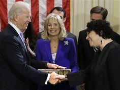 Joe Biden Wife | Joe Biden, with his wife Jill Biden, center, holding the Biden ...