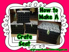 Super cute! Ginger Snaps: How to Make a Crate Seat