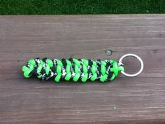 I was bored today so I started playing around with my para cord And I think I may have created a new weave. I made a key chain out of the weave and I hope you like it.