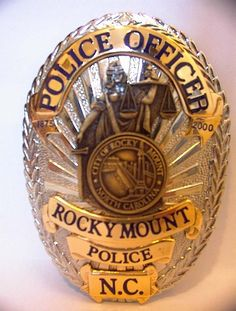 US State of North Carolina, City of Rocky Mount Police Department Badge