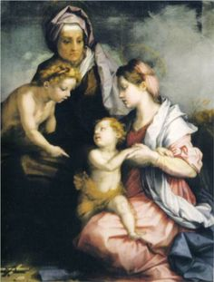 Madonna and Child with St. Elizabeth and St. John the Baptist - Andrea del Sarto.  c.1529.  Oil on panel.  140 x 104 cm.  Galleria Palatina, Palazzo Pitti, Florence, Italy.