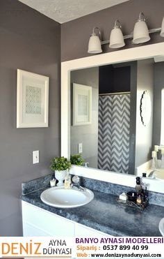 How To Frame Out That Builder Basic Bathroom Mirror