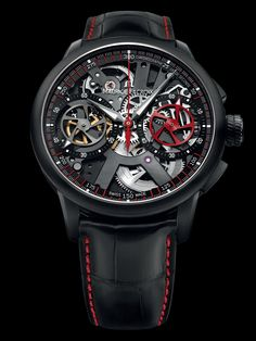 Beautiful skeleton!! The new Masterpiece Le Chronographe Squelette Limited Edition Collection watch - Presentwatch.com