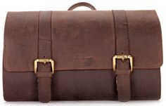 f8a176af738 LEABAGS Palm Mountain genuine buffalo leather toiletry bag in vintage style     Remarkable product available