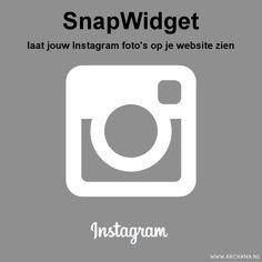 SnapWidget: laat jouw Instagram foto's op je website zien | ARCHANA.NL