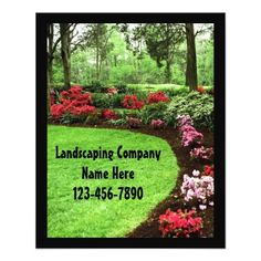 small plush green landscape lawn care business flyer - Lawn Care Business Cards