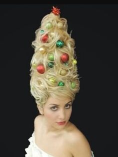 whoville christmas costumes 57 Ideas hairstyles christmas party ugly sweater for 2019 Christmas Tree Hair, Tacky Christmas Party, Christmas Costumes, Whoville Christmas, Funny Christmas, Tacky Christmas Sweater, Santa Christmas, Christmas Themes, Tacky Christmas Outfit