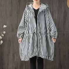 Loose Casual Denim Coat For Women – Babakud Long Trench Coat, Cape Coat, Knitted Coat, Denim Coat, Coat Patterns, Queen, Vintage Denim, Distressed Denim, Types Of Sleeves
