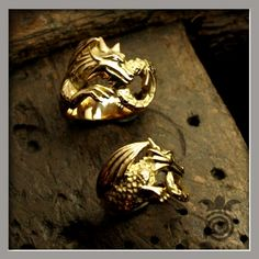 bague homme or dragon