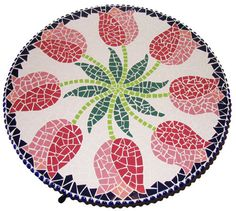 Items similar to Dutch-tulip-table mosaic-design on Etsy