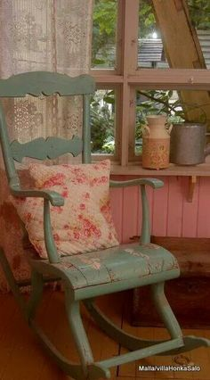 Country Love.  These type chairs are still easy enough to find, without making you crazy.