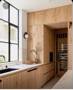 Modern Kitchen Design, Interior Design Kitchen, Interior Livingroom, Home Interior, Natural Home Decor, Natural Modern Interior, Cuisines Design, Kitchen Styling, Cheap Home Decor
