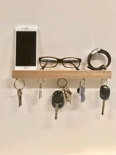 Excited to share the latest addition to my #etsy shop: Wood Magnetic Key Holder and Entryway Shelf, http://etsy.me/2C7u6J7