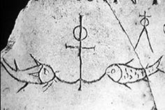 In early Christian art Jesus was represented emblematically: he appeared as a fish or anchor carved on stone walls of the catacombs. Christian Images, Early Christian, Christian Art, Art Through The Ages, Religious Tattoos, Hope Symbol, Cross Art, Christian Symbols, Ancient Artifacts