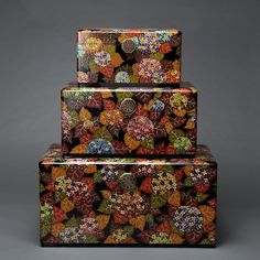 Image Decorative Boxes, Objects, Art Deco, Gift Wrapping, Japanese, Traditional, Painting, Image, Beautiful