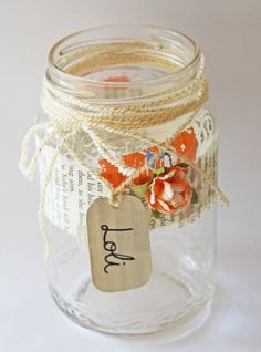 Memory Jar: Make a pretty memory jar and fill it up with the best memories of your giftee. Or, you can even give them an empty jar and have them fill it up themselves through the whole of next year. Then, they can relive the memories at the end of 2014 and happily reminisce. Source: Stellaire