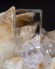 Fluorite, Calcite Llamas Quarry, Duyos, Obdulia vein, Caravia District, Caravia mining area, Asturias, Spain Copyright © Fabre Minerals