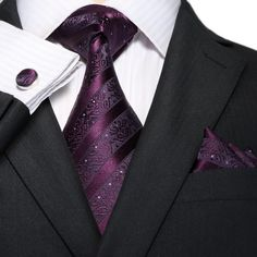 Purple Stripe Necktie Set JPM18A81 http://www.99wtf.net/men/mens-fasion/trend-necklace-men/