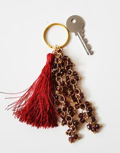 Tassel Keychain/ Bead Keychain/ Tassel Handbag Accessories/ Bead Handbag Accessories by SimSimAtelier on Etsy Bead Keychain, Tassel Keychain, Keychains, Silk Thread, Handbag Accessories, Tassels, Glass Beads, Gifts, Etsy
