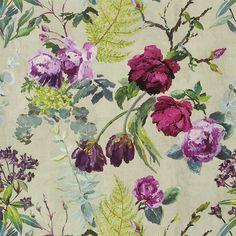 tulipani - linen wallpaper | Designers Guild common area possibility
