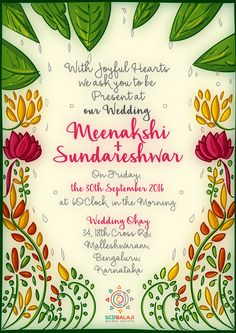 Print Ready Tamil Brahmin Wedding Invite Design By Scdbalaji Indian Ilrator South