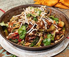 Balinese pork noodles recipe - By Real Living, Saucy, sticky and delicious - this recipe for Balinese pork noodles is a must for an easy, impressive dinner any night of the week Potluck Recipes, Pork Recipes, Asian Recipes, Real Food Recipes, Dinner Recipes, Cooking Recipes, Healthy Recipes, Ethnic Recipes, Indonesian Recipes