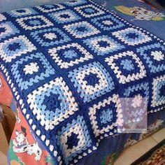 Crochet Blanket Pattern Ripple Granny Squares 44 New Ideas Crochet Granny Square Afghan, Baby Afghan Crochet, Crochet Quilt, Granny Square Crochet Pattern, Afghan Crochet Patterns, Knit Crochet, Granny Squares, Ripple Afghan, Crochet Stitches For Blankets