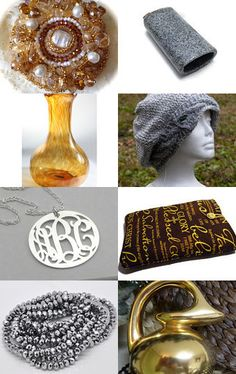 Silver and Gold by Amanda  Johnson on Etsy--Pinned with TreasuryPin.com