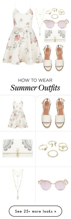 "Collection Of Summer Styles ""Easy summer outfit"" by liza-ionova on Polyvore featuring New Look, Lipsy, Le Specs and House of Harlow 1960 - #Outfits https://fashioninspire.net/fashion/outfits/summer-outfits-easy-summer-outfit-by-liza-ionova-on-polyvore-featuring-new-look-lipsy-le-sp/"