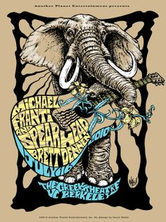 Michael Franti and Spearhead poster art.
