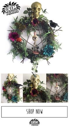 Pagan Rights halloween wreath by The Grim Wreather made to order $200 …