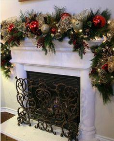 2 шт. 1.8 м новогоднее украшение темно зеленый топы белый край ленты гирлянды новый год красивая ноэль двери лестницы Ornement купить на AliExpress