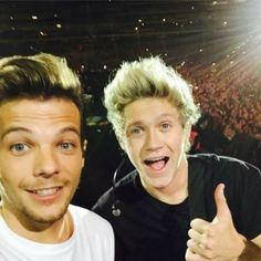 At the concert, Niall and Louis!
