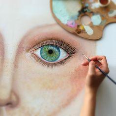 Eye- painting o canvas
