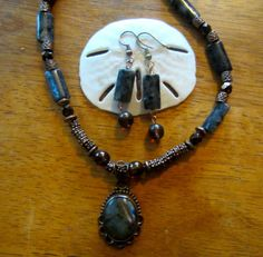 Labradorite Necklace and Earrings set