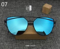 d060594cbc4 2018 New Cat Eye Aviator Sunglasses Women Vintage Fashion Metal Frame  Mirror Sun Glasses Unique Flat Ladies Sunglasses UV400