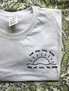 Fabric Crafts cotton T-shirt with printed texts of twenty a pilot song Frie. Fabric Crafts cotton T-shirt with printed texts of twenty a pilot song Frie Embroidery On Clothes, Embroidered Clothes, T Shirt Embroidery, Tumblr T-shirt, Twenty One Pilots Shirt, Twenty One Pilots Clothing, 21 Pilots T Shirt, Twenty One Pilots Quotes, Twenty One Pilots Concert