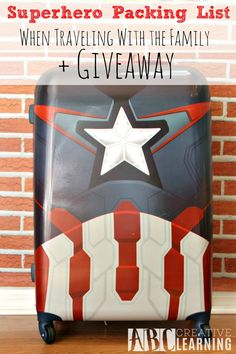 Superhero Packing List When Traveling With The Family + Giveaway! Enter for a chance to win your very own Marvel Luggage! - abccreativelearning.com